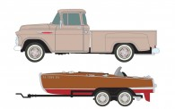 Classic Metal Works 40013 1957 Chevrolet 3100 Step-Side Pickup mit