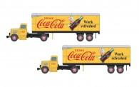 Classic Metal Works 51188 2x WC22 LKW mit Anhänger - Coca Cola