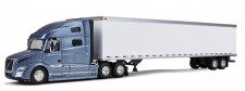 First Gear 800323 Volvo VNL 760 53ft Trailer blau-met.