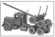 GHQ 52007 Tractor wSkltn Log Trlr