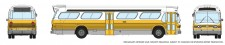 Rapido Trains 573001 GM New Look Bus - Boston