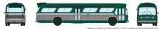 Rapido Trains 573004 GM New Look Bus - New York (Green)