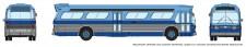 Rapido Trains 573005 GM New Look Bus - New York(Blue)