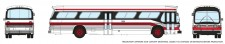 Rapido Trains 573007 GM New Look Bus - Toronto (Red/Black)