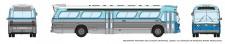 Rapido Trains 573008 GM New Look Bus - Santa Monica 2525