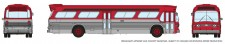 Rapido Trains 573097 GM New Look Bus - Generic Red