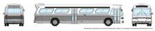 Rapido Trains 573098 GM New Look Bus - Generic White