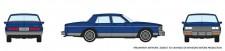 Rapido Trains 800003 Chevrolet Caprice Sedan - dunkelblau