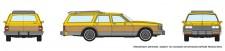 Rapido Trains 800004 Chevrolet Caprice Wagon - Yellow Woodie