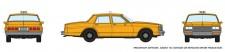 Rapido Trains 800007 Chevrolet Impala Sedan - Taxi