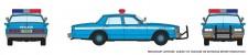 Rapido Trains 800009 Chevrolet Impala Sedan - Police (Blue)