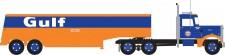 Trainworx 55016 Peterbilt 350 Fuel Tank Truck Gulf