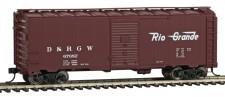 Walthers Mainline 1677 DRGW gedeckter Güterwagen 4-achs Ep.3