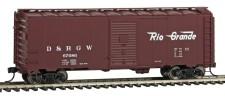 Walthers Mainline 1678 DRGW gedeckter Güterwagen 4-achs Ep.3