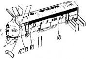 Walthers 822 Diesel detail kit F7/F9