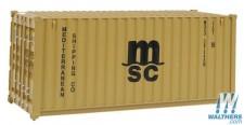 Scene Master 8057 20' Container MSC