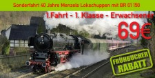 Menzels Lokschuppen 1.1.e 1.Fahrt 1.Klasse Erwachsener