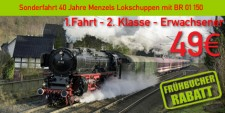 Menzels Lokschuppen 1.2.e 1.Fahrt 2.Klasse Erwachsener