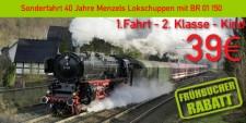 Menzels Lokschuppen 1.2.k 1.Fahrt 2.Klasse Kind  4 - 12 Jahre