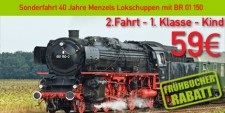 Menzels Lokschuppen 2.1.k 2.Fahrt 1.Klasse Kind  4 - 12 Jahre