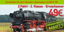 Menzels Lokschuppen 2.2.e 2.Fahrt 2.Klasse Erwachsener