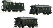 Fleischmann 481805 DRG 3-tlg. Set Nebenbahn-Personenzug Ep