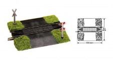 Fleischmann 6197 Bahnübergang unbeschrankt 100 mm