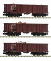 Fleischmann 828345 DB Set:3-tlg.Off. Güterwagen Eaos E4