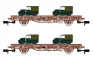 Arnold HN6424 RENFE Flachwagen-Set. 2-achs Ep.6