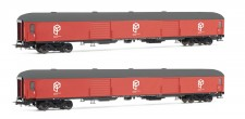 Electrotren HE4001 RENFE, 2er-Set Gepäckwagen DD-8100, rot