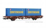 Electrotren HE6032 RENFE Containertragwagen 2-achs Ep.4