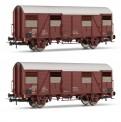 Rivarossi HR6457 FS gedeckten Güterwagen-Set 2-tlg Ep.4/5