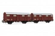 Rivarossi HR6505 FS Gedeckte Güterwagen-Set 2-tlg Ep.4