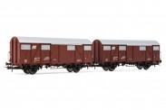 Rivarossi HR6506 FS Gedeckte Güterwagen-Set 2-tlg Ep.4/5