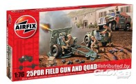 Airfix 01305 25PDR Field Gun and Quad