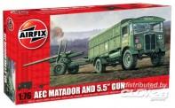 Airfix 01314 AEC Matador & 5,5 inch Gun