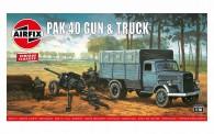 Airfix 02315V Opel Blitz & PAK 40 Gun - Vintage Classi