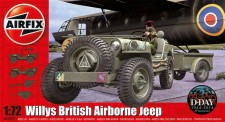 Airfix 02339 Willys Jeep, Trailer & 6PDR Gun