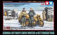 Tamiya 32412 German Luftwaffe Crew mit Kettenrad