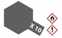 Tamiya 81010 X10 - Gun Metall glänzend 23 ml