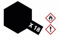 Tamiya 81018 X18 - schwarz seidenmatt 23 ml