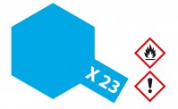 Tamiya 81023 X23 - Klar-Blau glänzend 23 ml