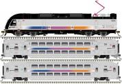 Atlas 40004069 NJT Personenzug 3-tlg Ep.6