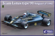 Ebbro 20019 Team Lotus Type 91 Belgian GP 1982