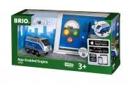 Brio 33863 Batterielok Blauer Oskar mit App Steuer.