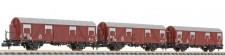 Liliput 260130 DB gedeckte Güterwagen-Set 3-tlg Ep.3