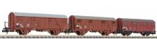Liliput 260133 DR gedeckte Güterwagen-Set 3-tlg Ep.4