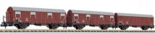 Liliput 260146 DB gedeckte Güterwagen-Set 3-tlg Ep.3