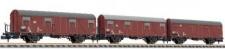 Liliput 260147 DB gedeckte Güterwagen-Set 3-tlg Ep.4