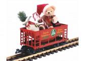 Piko 37813 G-Weihnachtswagen mit Bär von Hermann